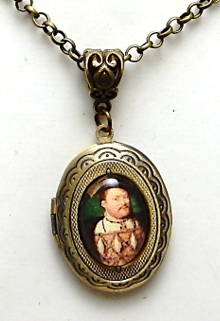 Henry VIII locket necklace