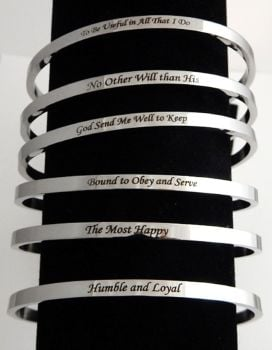 Wives of Henry VIII Motto Bangles - one piece