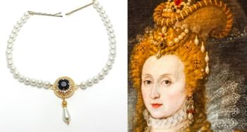 Elizabeth 1st replica hair necklace