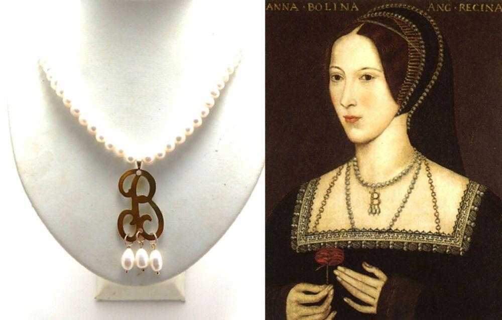 Anne Boleyn Initial B Necklace