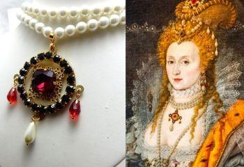 Elizabeth 1st replica necklace - The Rainbow Portrait