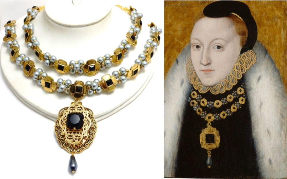 Elizabeth 1st portrait replica necklace