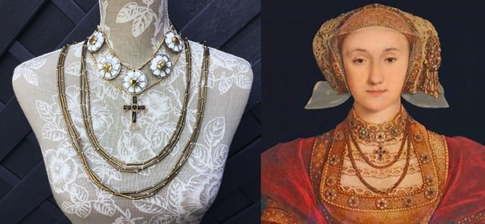 Anne Of Cleves replica necklace set