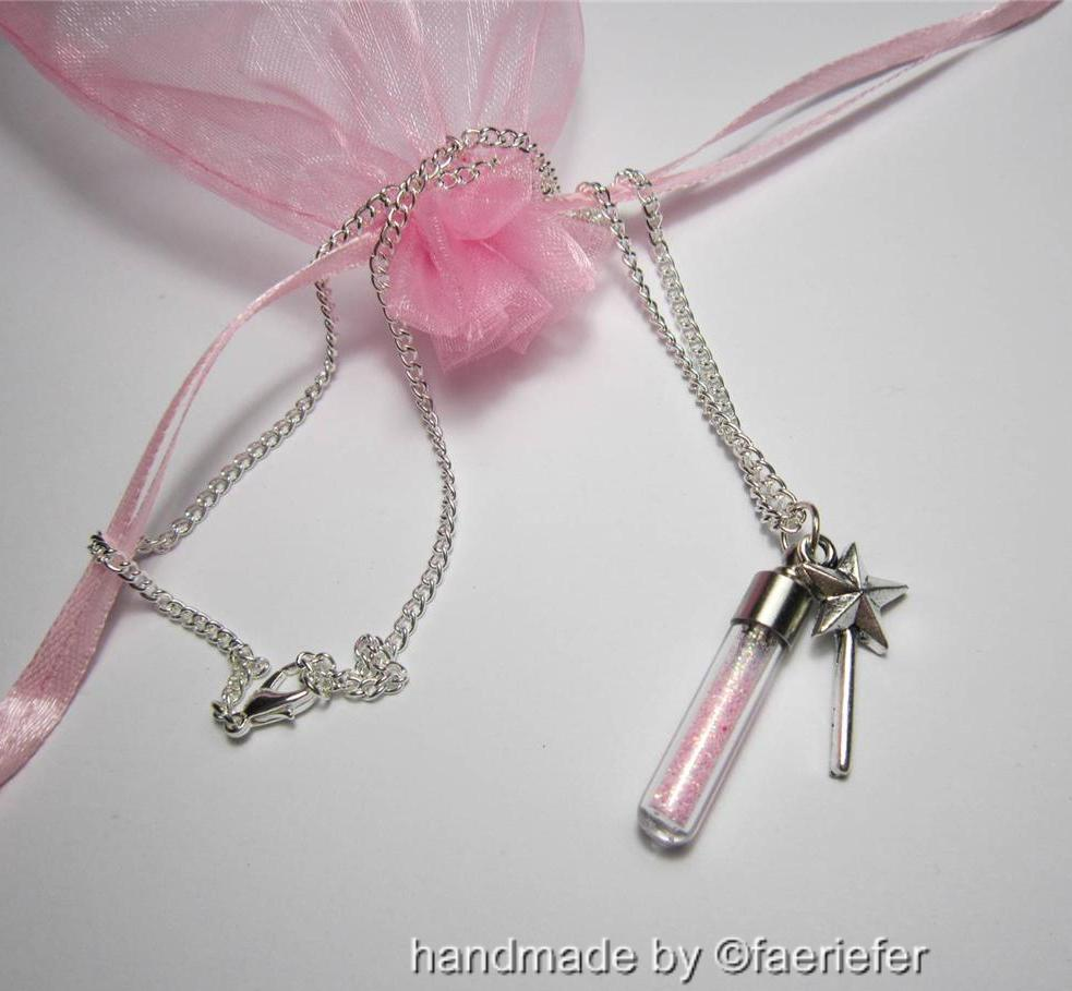 Fairy dust wishing necklace