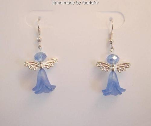 Flower fairy beaded earrings in a choice of colour