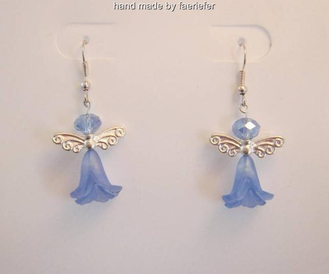 Flower fairy beaded earrings in a choice of colour