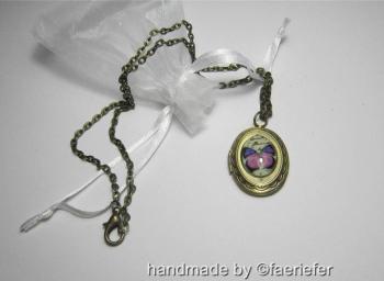 Vintage Butterfly Locket necklace