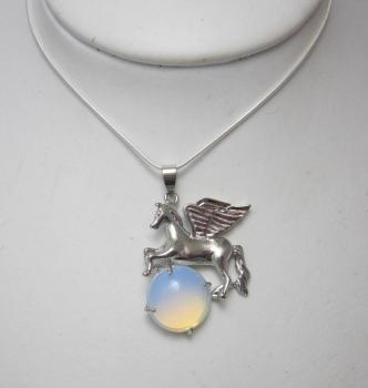 Moonstone Pegasus necklace