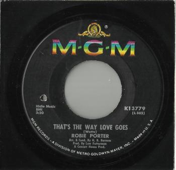 ROBIE PORTER -- THAT'S THE WAY LOVE GOES