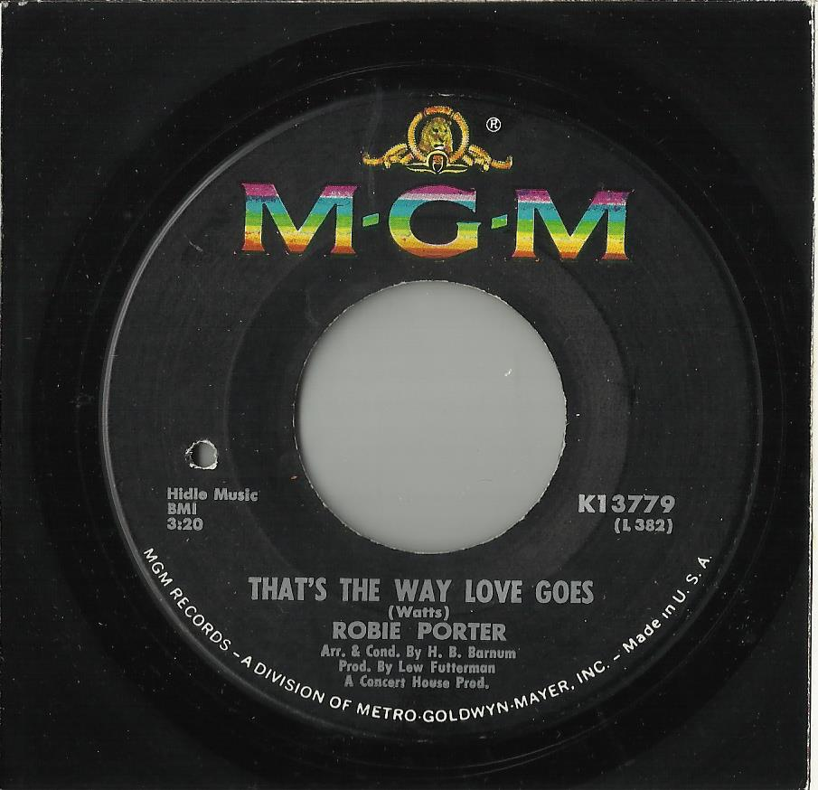 PORTER, ROBIE -- THAT'S THE WAY LOVE GOES
