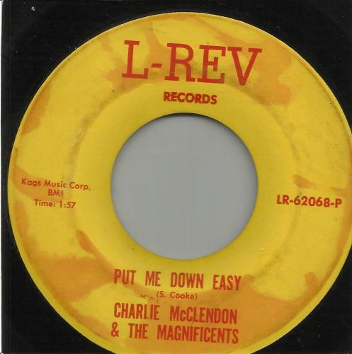 CHARLIE McCLEDON & THE MAGNIFICENTS - PUT ME DOWN EAST