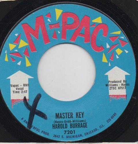 HAROLD BURRAGE - MASTER KEY
