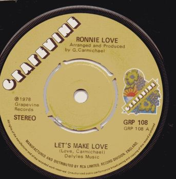 RONNIE LOVE - LETS MAKE LOVE / NOTHING TO IT