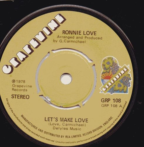 RONNIE LOVE - LETS MAKE LOVE