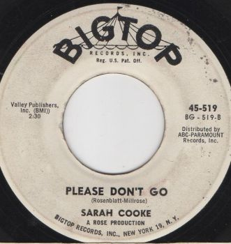 SARAH COOKE - PLEASE DON'T GO