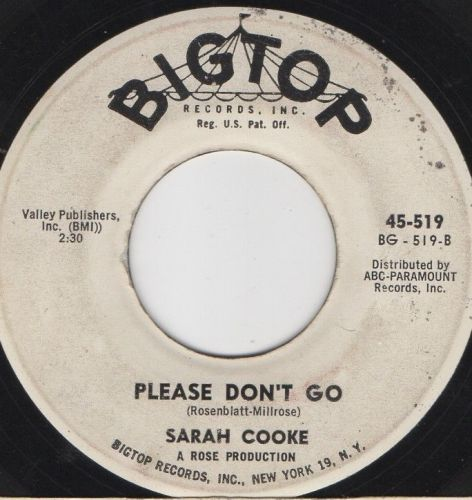 SARAH COOKE - PLEASE DON'T GO