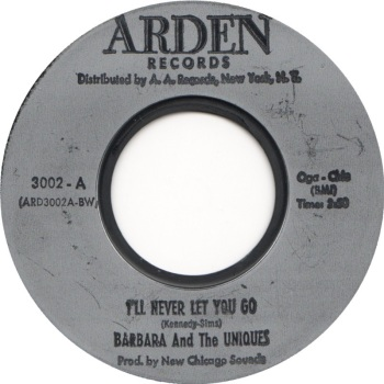 BARBARA AND THE UNIQUES - I'LL NEVER LET YOU GO