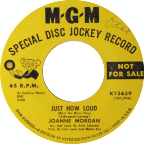 JOANNE MORGAN - JUST HOW LOUD