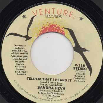 SANDRA FEVA - TELL EM I HEARD IT / BUTTERFLY