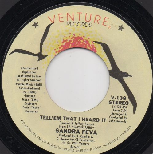 Sandra Feva - Tell 'Em I Heard It