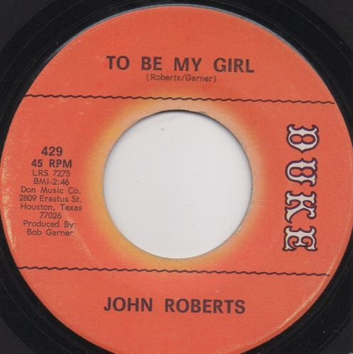 John Roberts - To Be My Girl