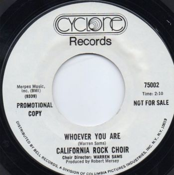 CALIFORNIA ROCK CHOIR - WHOEVER YOU ARE (PROMO)