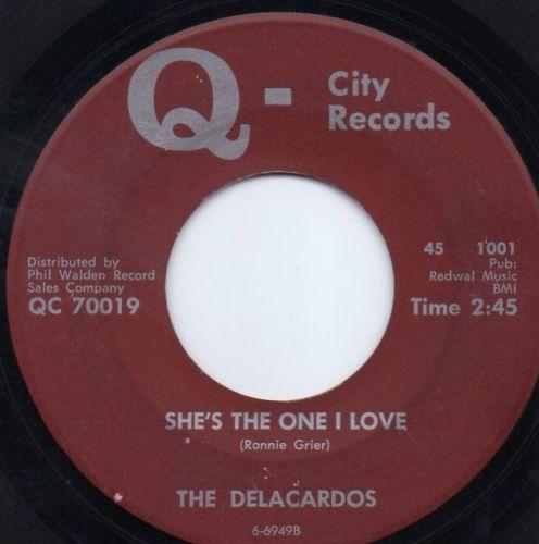 THE DELACARDOS - SHE'S THE ONE I LOVE
