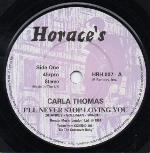 CARLA THOMAS - I'LL NEVER STOP LOVING YOU