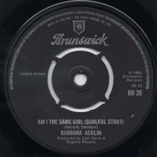 BARBARA ACKLIN - AM I THE SAME GIRL (SOULFUL STRUT)