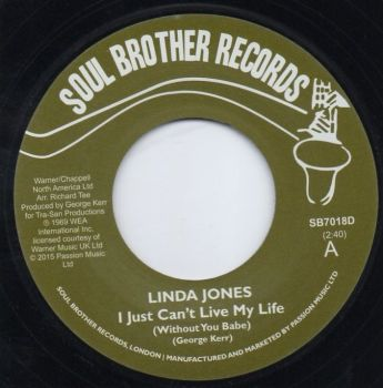 LINDA JONES - I JUST CAN'T LIVE MY LIFE (WITHOUT YOU BABE)