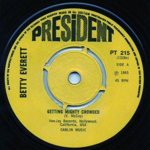 BETTY EVERETT - GETTING MIGHT CROWDED