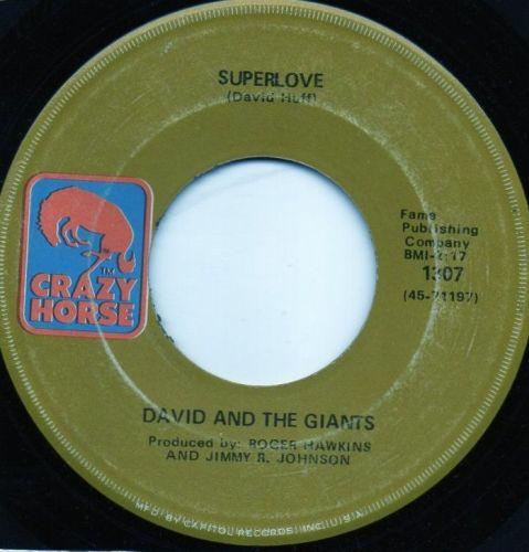 DAVID AND THE GIANTS - SUPERLOVE