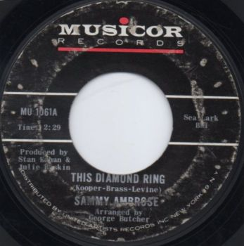SAMMY AMBROSE - THIS DIAMOND RING