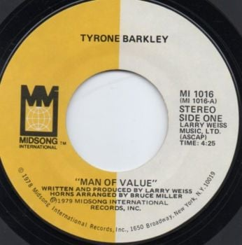 TYRONE BARKLEY - MAN OF VALUE