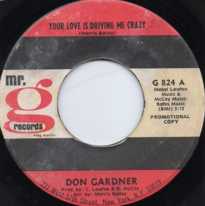 DON GARDNER - YOUR LOVE IS DRIVING ME CRAZY