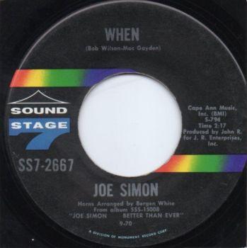 JOE SIMON - WHEN