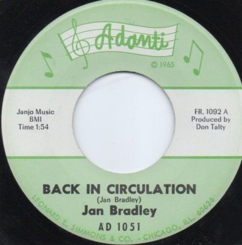 JAN BRADLEY - BACK IN CIRCULATION