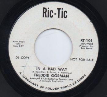 FREDDIE GORMAN - IN A BAD WAY