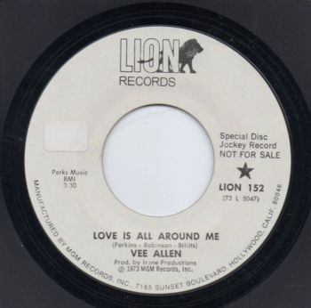 VEE ALLEN - LOVE IS ALL AROUND ME