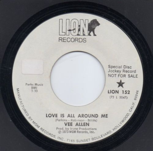 VEE ALLEN - LOVE IS ALL AROUND ME