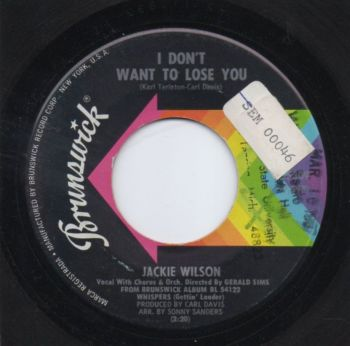 JACKIE WILSON - I DON'T WANT TO LOSE YOU