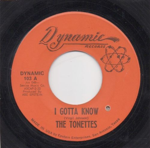 THE TONETTES - I GOTTA KNOW