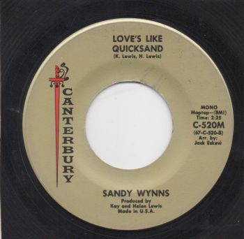 SANDY WYNNS - LOVE'S LIKE QUICKSAND