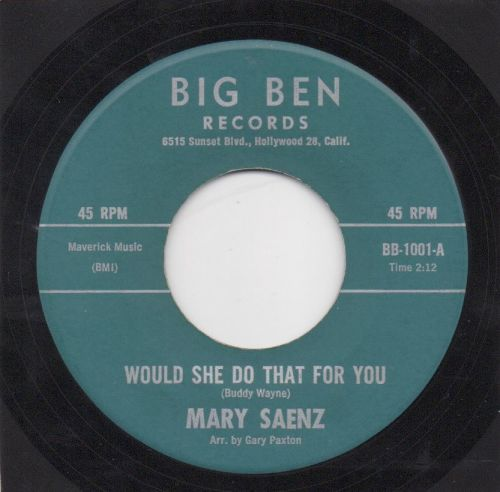 MARY SAENZ - WOULD SHE DO THAT FOR YOU
