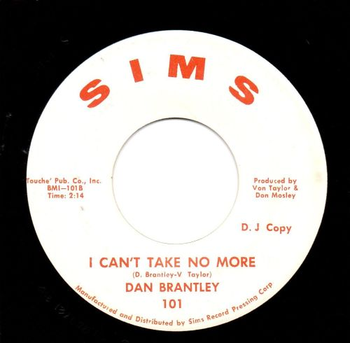DAN BRANTLEY - I CAN'T TAKE NO MORE