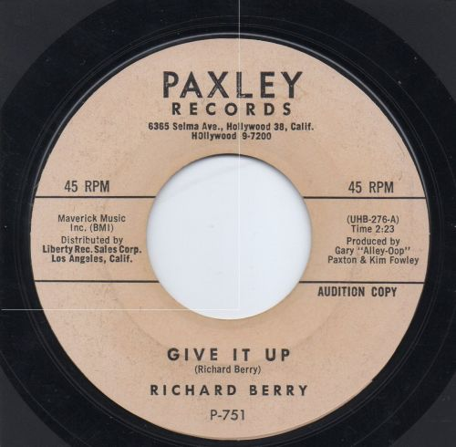 RICHARD BERRY - GIVE IT UP