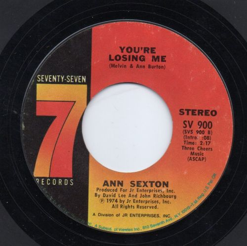 ANN SEXTON - YOU'RE LOSING ME
