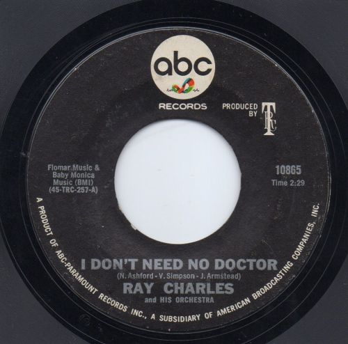 RAY CHARLES (And His Orchestra) - I DON'T NEED NO DOCTOR