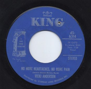 VICKI ANDERSON - NO MORE HEARTACHES, NO MORE PAIN