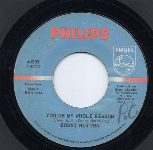 BOBBY HUTTON - YOU'RE MY WHOLE REASON